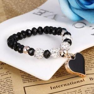 Romantic Vintage Bracelet Heart Pendant Bracelet
